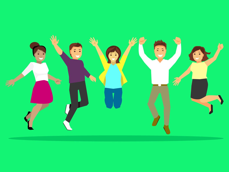 Illustration représentant le bien-être des collaborateurs